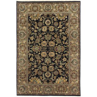 Trend One-of-a-Kind Hand-Woven Wool Gray/Black Area Rug ByCanora Grey