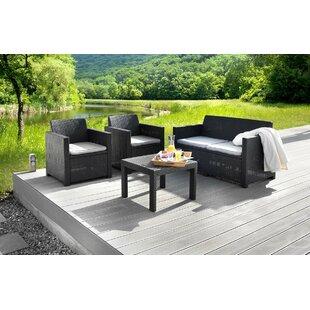 Hawkins 4 Seater Rattan Sofa Set Image
