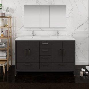 Senza Tuscany 60 Double Bathroom Vanity Set with Medicine Cabinet By Fresca