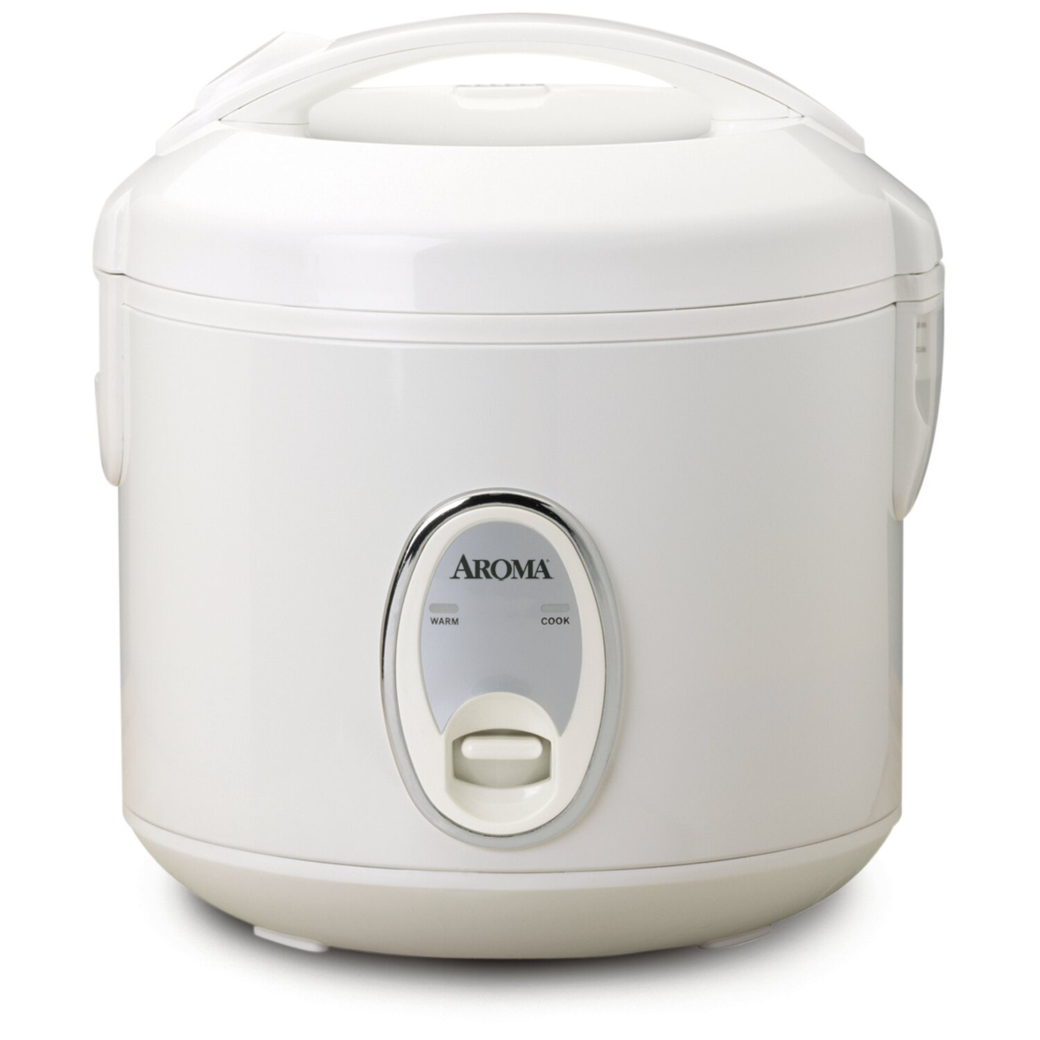 Rice Cooker 4-Cup Non-Stick Interior Stainless Finish with Tempered Glass Cover