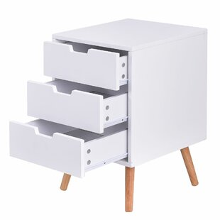 Bohl 3 Drawer Nightstand (Set of 2)