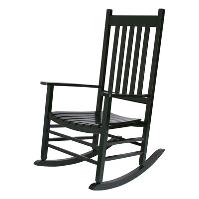 Emjay Rocking Chair Finish: Dark Green by Andover Mills