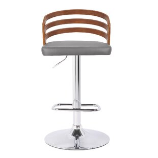 Orren Ellis Jaydin Adjustable Height Swivel Bar Stool