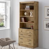 Vioria 79.5 H x 34 W Solid Wood Standard Bookcases by Union Rustic