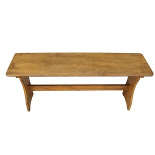 August Grove Simmons Wood Bench