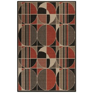 Corr Circles Warm Indoor/Outdoor Area Rug