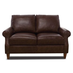 Nyquist Leather Loveseat By Loon Peak