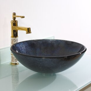Compare Glass Circular Vessel Bathroom Sink By Legion Furniture