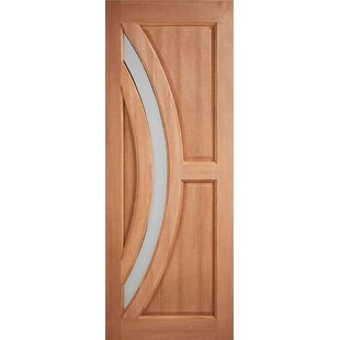 Harrow Manufactured Wood Glazed Front Entry Door