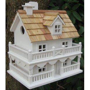 Home Bazaar Classic Novelty Cottage 10.5 in x 7.5 in x 11 in Birdhouse