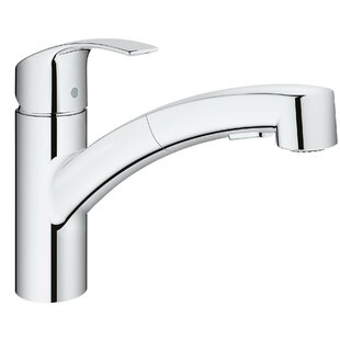 Grohe Eurosmart Single Handle Pull Out Standard Kitchen Faucet with Dual Spray and SilkMove®