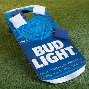 Bud Light Can 10 Piece CornHole Bean Bag Toss Game Set ByTrademark Games