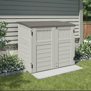 Suncast Utility 4 ft. 4 in. W x 2 ft. 8 in. D Plastic Horizontal Garbage Shed