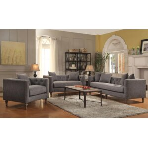 Gracie Oaks Belloreid 3 Piece Living Room Set