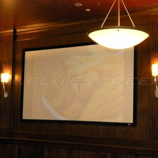 Sable235 White Fixed Frame Projection Screen by Elite Screens