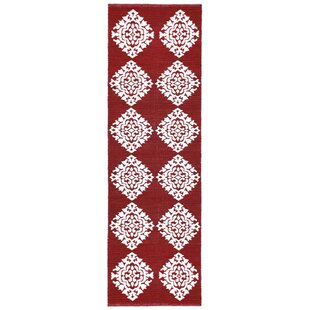 Great Price Jacquard Hand-Woven Red Area Rug By St. Croix