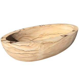 Sandstone 72 x 30 Freestanding Soaking Bathtub By Y Decor