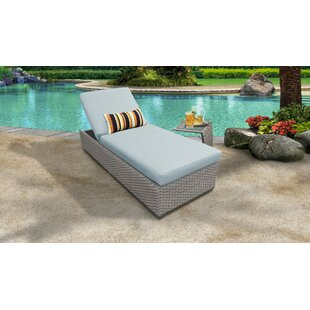Monterey Outdoor Chaise Lounge with Cushion and Table