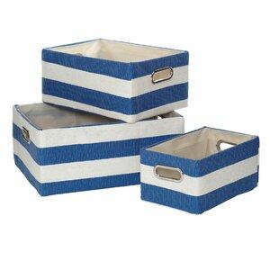 3-tlg. Aufbewahrungsboxen-Set Sanibel aus Stoff von Haus am Meer