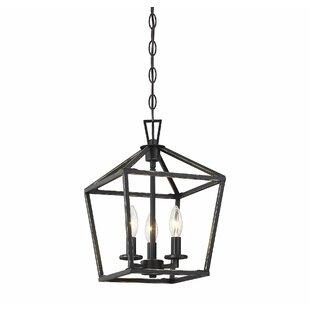 Gracie Oaks Israel 3-Light Lantern Pendant