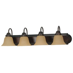 Price Check Gurney 4-Light Vanity Light By Three Posts