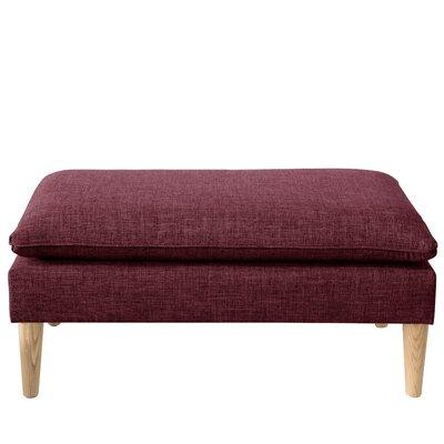 Brayden Studio Santiago Upholstered Bench Color: Zuma Oxblood