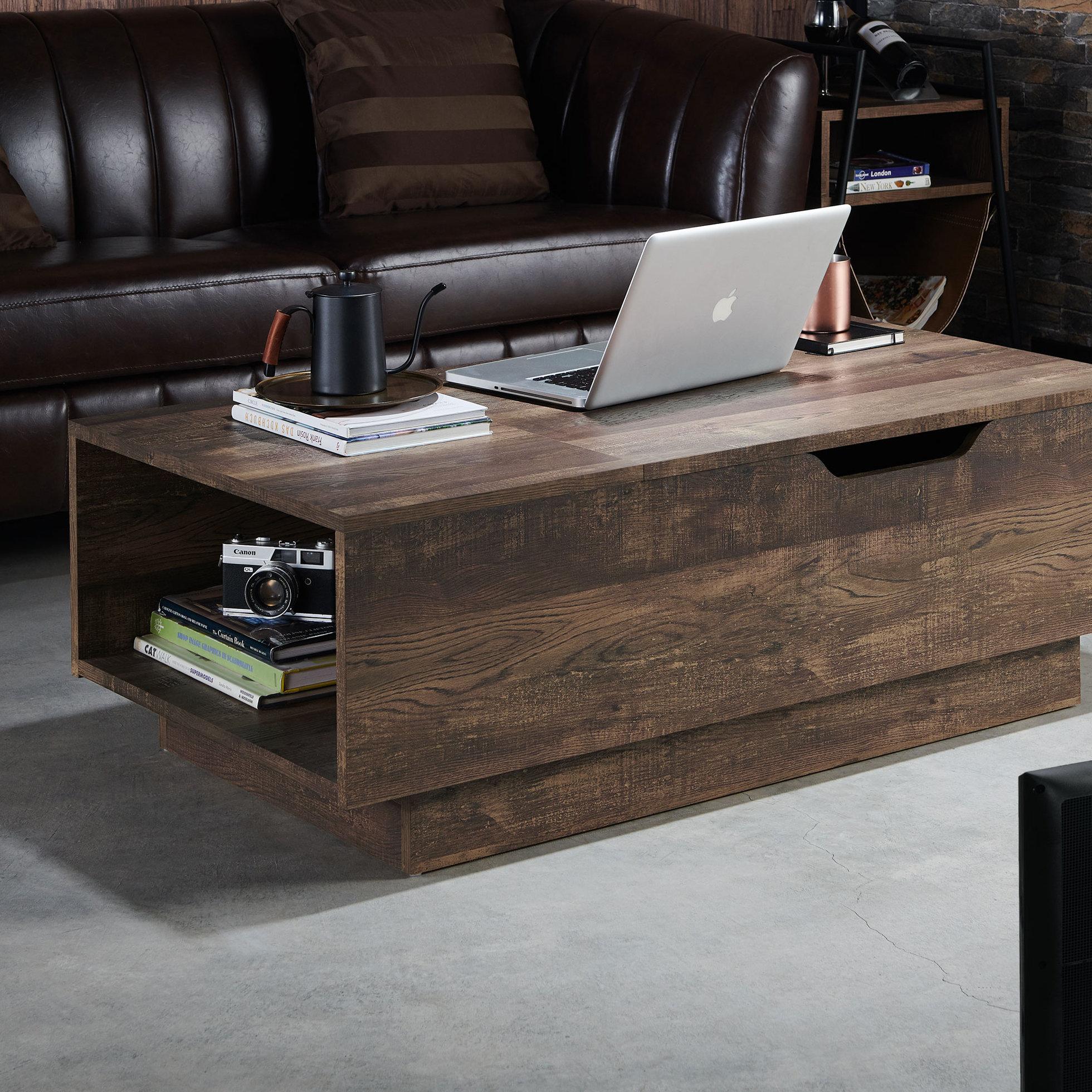 Laurel Foundry Modern Farmhouse Colten Lift Top Block Coffee Table Reviews Wayfair
