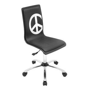 Printed Peace Desk Chair