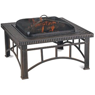 Endless Summer Steel Wood Burning Fire Pit Table
