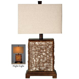 Ibapah Canvas Enclosed Night Light 27 Table Lamp