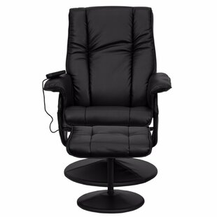 Red Barrel Studio Leather Heated Reclining Massage Chair with Ottoman
