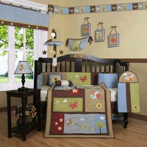 Boutique Airplane Aviator 13 Piece Crib Bedding Set