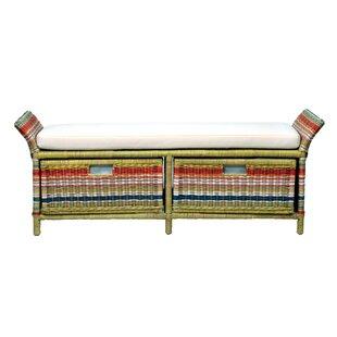 Saragosa Wicker Storage Bench by Bay Isle Home Best