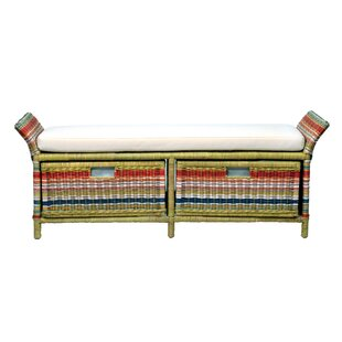 Saragosa Wicker Storage Bench by Bay Isle Home Cool