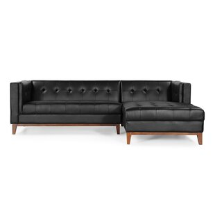 Malin Leather Sectional by Comm Office