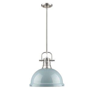 Bodalla 1-Light Dome Pendant by Beachcrest Home