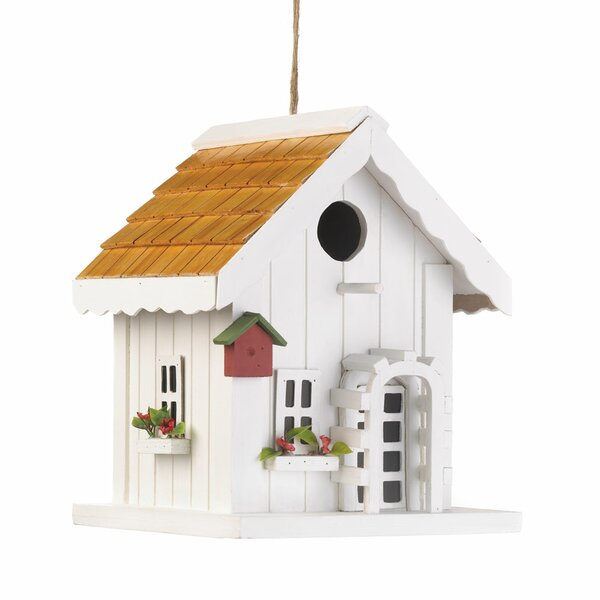 Coastal Cottage 9 in x 7 in x 7 in Birdhouse
