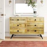 Coda 6 Drawer Double Dresser Horizontal by Foundstone™