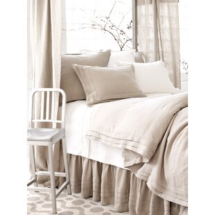 Natural Pleated Linen Duvet Cover Collection