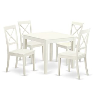 Travis 5 Piece Dining Set Charlton Home