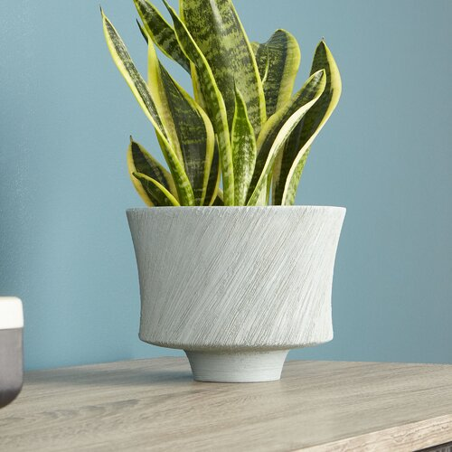 Selena Ceramic Rustic Decorative Bowl in Gray