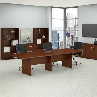 Read Reviews Boat shaped 29.8H x 47.6 W x 119L Conference Table ByBush Business Furniture