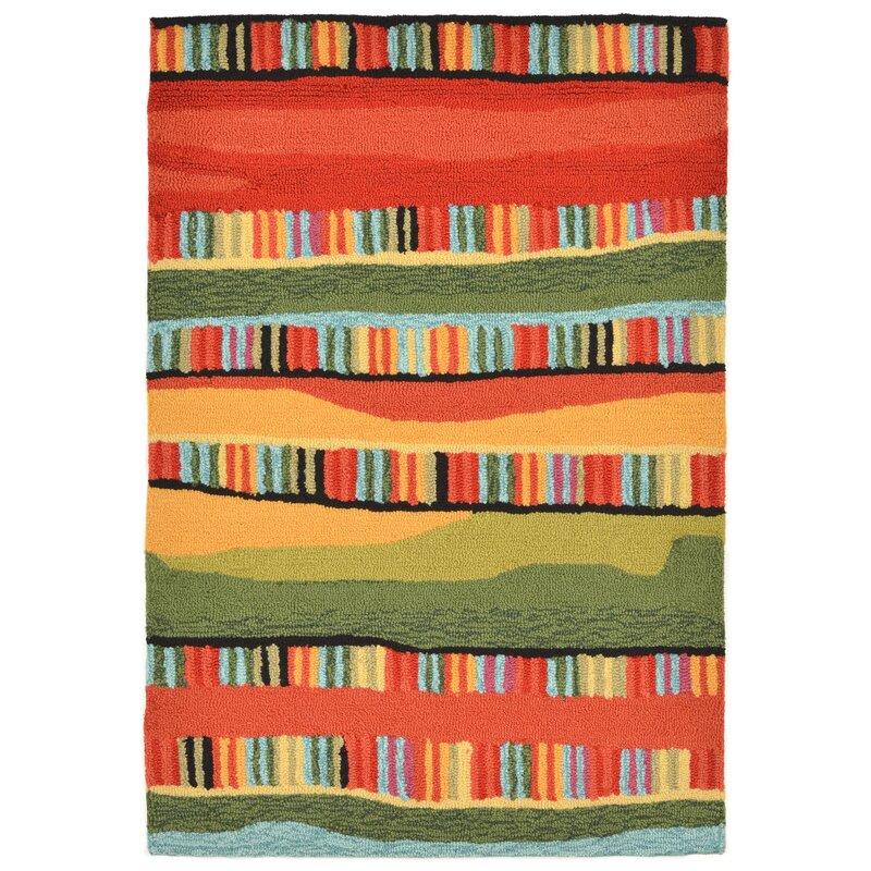 Ebern Designs Derby Green Red Yellow Indoor Outdoor Area Rug Reviews Wayfair