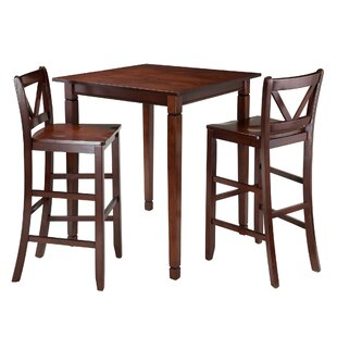 Hemphill 3 Piece Pub Table Set Red Barrel Studio