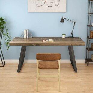 Hartlyn Retro Solid Wood Computer Desk