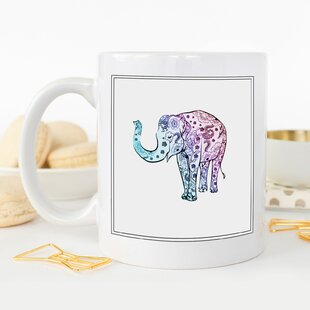 Elephant Art Coffee Mug