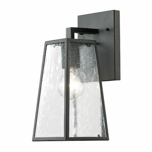 Modern outdoor wall lighting allmodern karly 1 light outdoor wall lantern mozeypictures Image collections