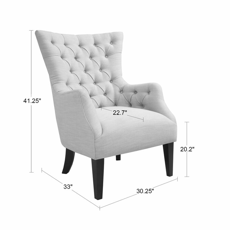 Beau Steelton Button Tufted Wingback Chair