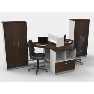 Triangular Corner 6 Piece L-Shaped Desk Office Suite by TeamCENTERoffice