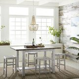 5 Piece Counter Height Dining Set by Highland Dunes